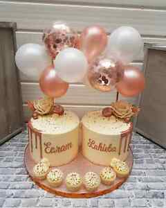 Birthday Rose Gold Cake : birthday, BALLOON, TOPPER, CONFETTI, BRIDE, PARTY, BIRTHDAY, WEDDING, GARLAND