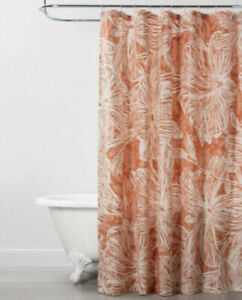 details about opalhouse floral coral shower curtain new