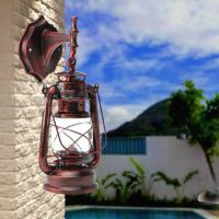 Retro Antique Vintage Rustic Lantern Lamp Wall Sconce ...