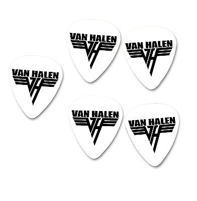 Famous White pick with black logo & signature reverse