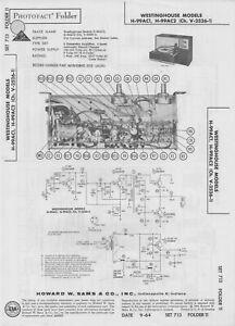 1964 WESTINGHOUSE H-99AC1 h-99ac2 PHONO AMPLIFIER SERVICE