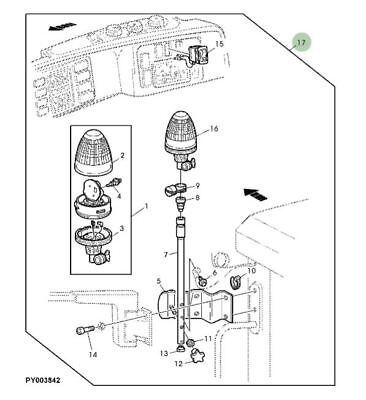 Genuine John Deere Tractor Beacon Light AL111705 6010 6110