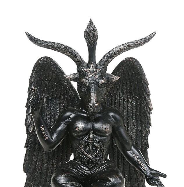 Baphomet Horned Sabbatic Goat Solve Et Coagula Statue 10