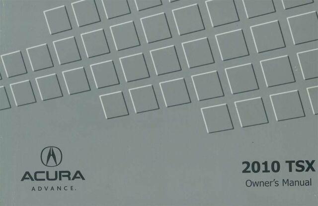 Bishko OEM Maintenance Owner's Manual Bound for Acura Tsx