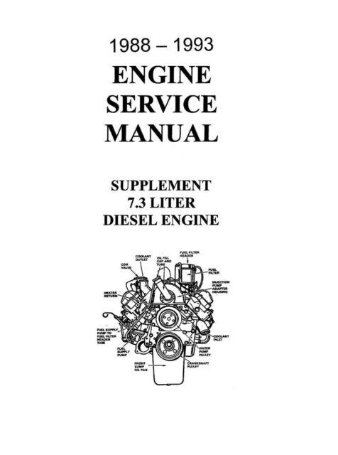 1994 FORD F250/350/super duty 7.3L DI Turbo Diesel Shop