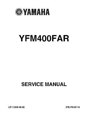 Yamaha ATV service workshop manual 2003 Kodiak 400 4WD