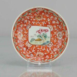 Antique circa 1900-1930 Chinese Porcelain Landscape Dish Qianjiang Minguo