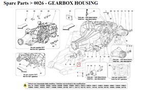 NEW Ferrari California Gearbox Complete Pad Support 239753