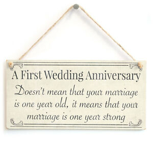 First Wedding Anniversary your marriage is one year old  1st Anniversary Gift  eBay