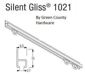 Caravan / Boat window Silent Gliss Curtain Track, 600mm