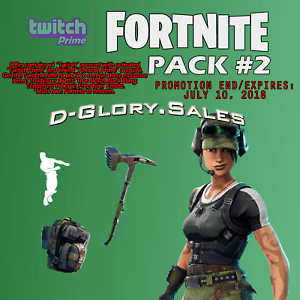 Fortnite Twitch Prime Pack 2 PC PS4 XBOX One READ DESCRIPTION LAST WEEK EBay