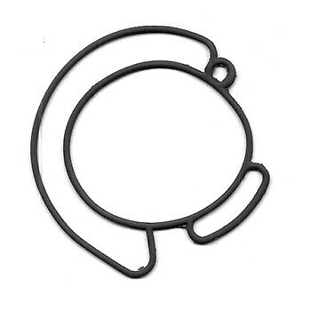 Gasket, Carb Mounting Johnson/Evinrude 90-175hp 60° 344046