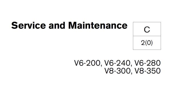 Volvo Penta Service Manual v6-200 v6-240 v6-280 v8-300 v8