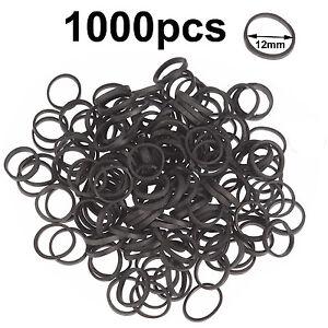 Mini small black elastic rubber bands hair braid poly
