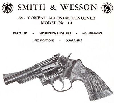 Modello Wesson Smith & 19 357 Magnum Revolver-parti