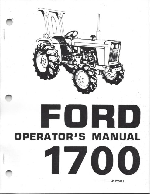 Ford 1700 Tractor Operator Manual 42170011 for sale online