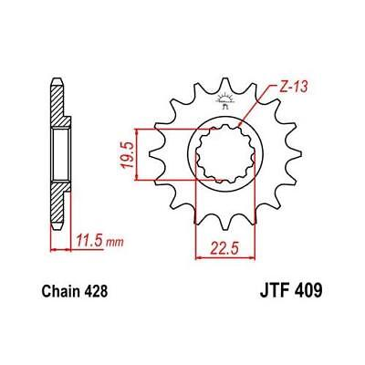 JT 428 14T Front Sprocket for Suzuki 2003-16 DRZ125 L 03