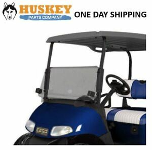ezgo windshield sonic electronix wiring diagram rxv golf cart w rubber trim folding tinted impact image is loading