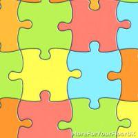 Jigsaw Vinyl Flooring Playful Kids Multi Colour Childrens ...