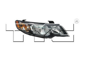 TYC Right Passenger Side Halogen Headlight for Kia Forte
