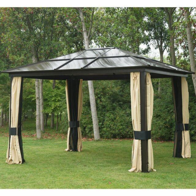outsunny 01 0865 12 x10 outdoor patio canopy gazebo beige