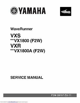 Yamaha WaveRunner service manual 2015 VXS VX1800 (F2W