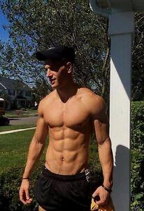 Shirtless Male Muscular Ripped Jock 6 Pack Abs Runner Hunk