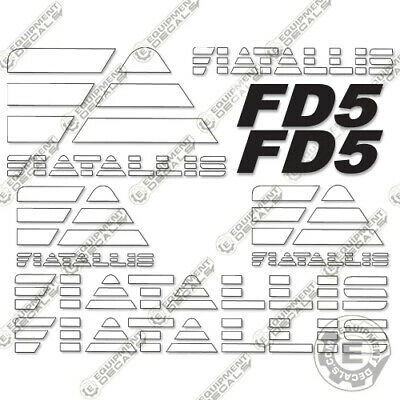 Fiat Allis FD5 Decal Kit Crawler Tractor Dozer 7-Year