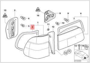 Genuine BMW E39 Wagon Seal Rear Light Side Panel Right OEM