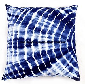 details about 26 blue indigo tie dye cushion covers indian shibori pillow cases boho handmade