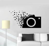 Vinyl Wall Decal Retro Camera Photographer Cubes Stickers ...