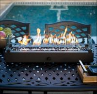Outdoor Fireplace Fire Pit Tabletop Gas Patio Table Top