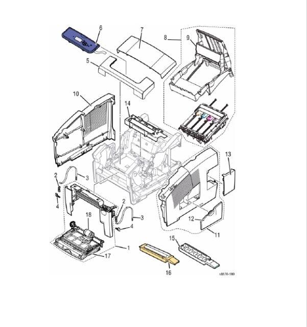 Xerox ColorQube Printer Spare Parts for 8570 8580 8870