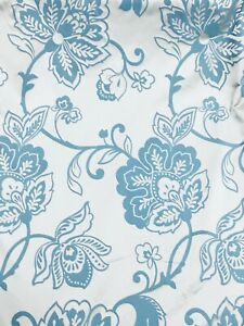 details about pale blue cream delicate floral pattern curtain fabric material 137cm wide br037