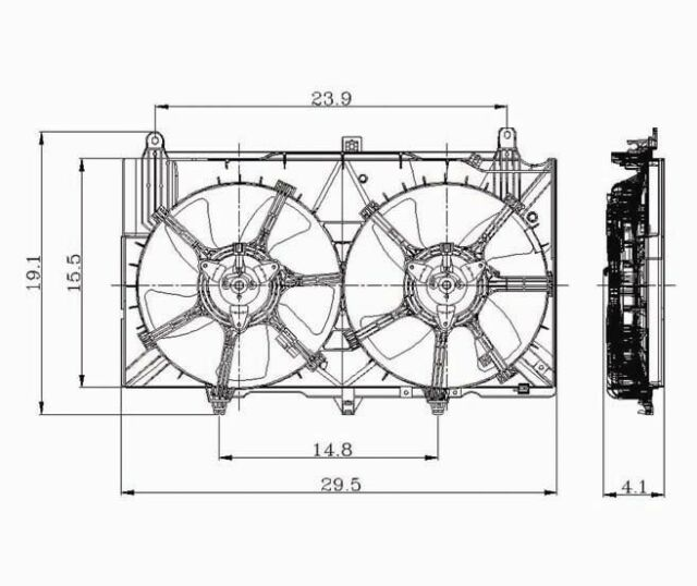 Dual Radiator and Condenser Fan fits 2003-2006 Nissan 350Z