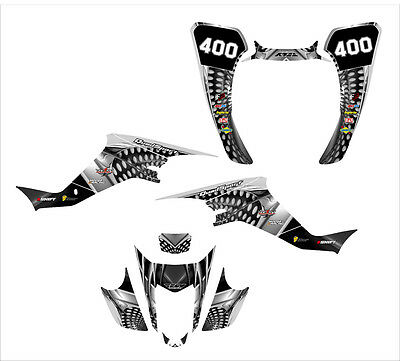 Suzuki LTZ400 KFX 400 Graphics Decal Kit 2003-2008 sticker