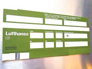 LUFTHANSA Boarding Pass 80er OTL AICHER HFG Ticket antik 80ies   eBay