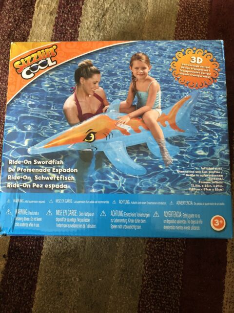 Sizzlin Cool Pool : sizzlin, SHARK, Inflatable, Length,, Handles, Online