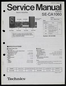 TECHNICS SE-CA1060 Original Amplifier Service Manual