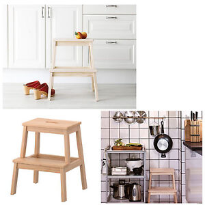 ikea kitchen step stool china dishes new retro wooden chair ladder foot kids image is loading