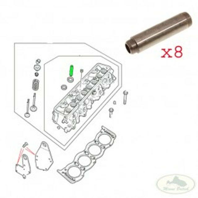 LAND ROVER CYLINDER VALVE GUIDE SET x8 RANGE P38 DISCOVERY