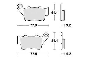 Plaquette Frein KTM EXC 125 200 250 300 400 450 525 ENDURO