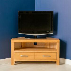 details sur abbaye de chene clair coin meuble tv unite 90 cm moderne de la television en bois massif meuble afficher le titre d origine