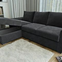 2 Seater L Shaped Sofa Bed Sectional India Ravena Or Stanford Shape Beds In Chenille Fabric Image Is Loading