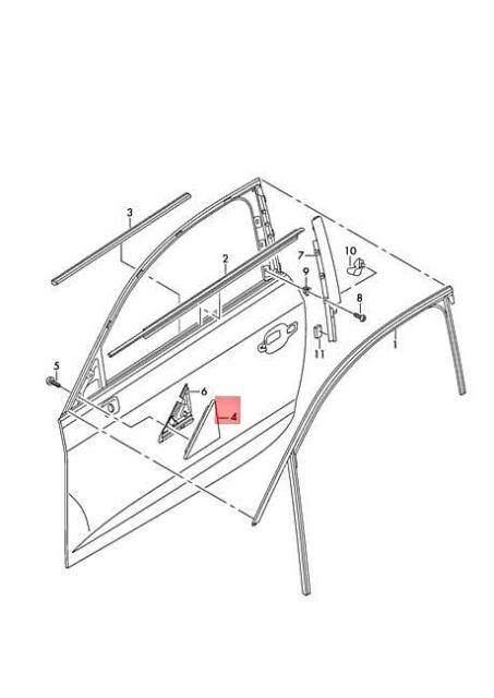 Genuine Corner Trim AUDI A3 S3 Sportback Lim. Quattro. Rs3