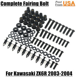 US Complete Fairing Bolt Kit Body Screw For Kawasaki Ninja