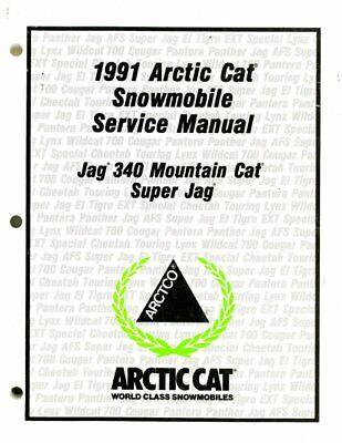 1991 Arctic Cat Jag 340 Super Jag Snowmobile Service