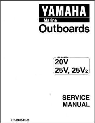 97-10 Yamaha 20 25 2-Stroke ( 20V 25V 25V2 ) Outboard
