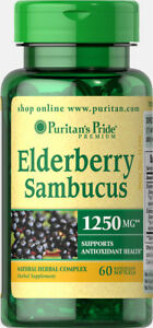 ELDERBERRY SAMBUCUS 1250 MG Immune Immunity Flu Influenza ...