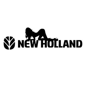 New Holland Logo with Sexy Lady Girl Sticker Film Deco